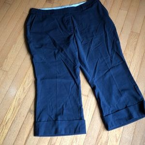 Worthington Pant Capri 18 Navy FREE W/PURCHASE
